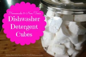 Homemade Dishwasher Detergent Cubes