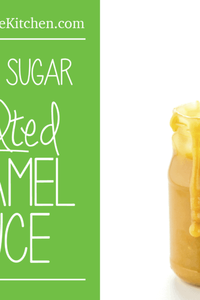Salted Caramel Sauce, made with Coconut Sugar (a healthier alternative to cane sugar)
