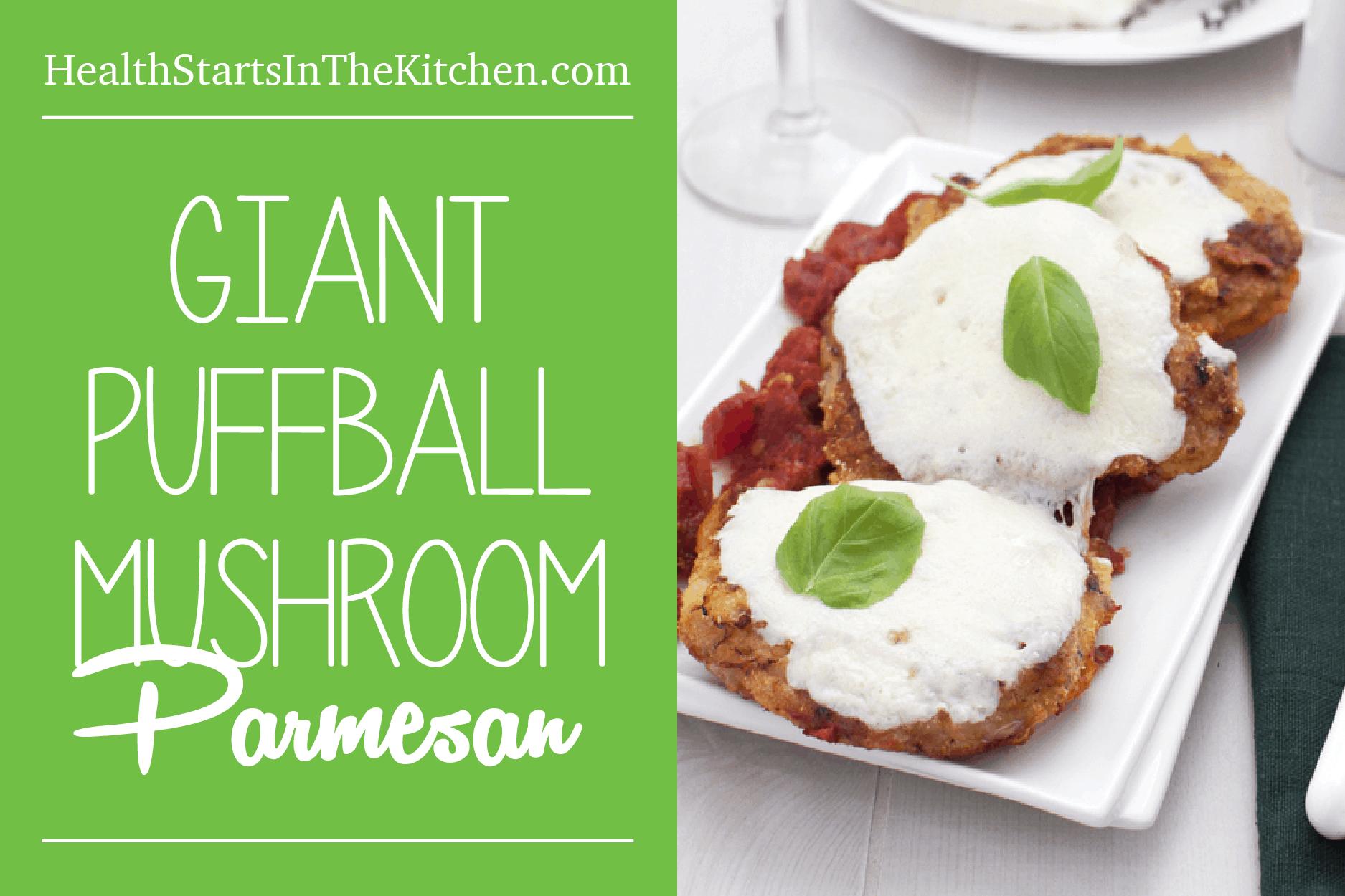 Giant Puffball Mushroom Parmesan