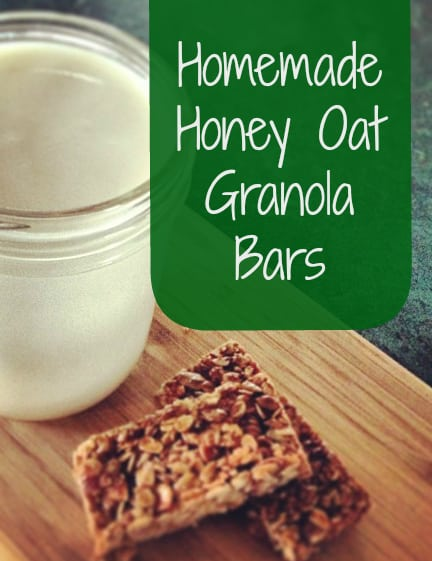 Honey Oat Granola Bars