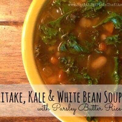 Shiitake, Kale & White Bean Soup