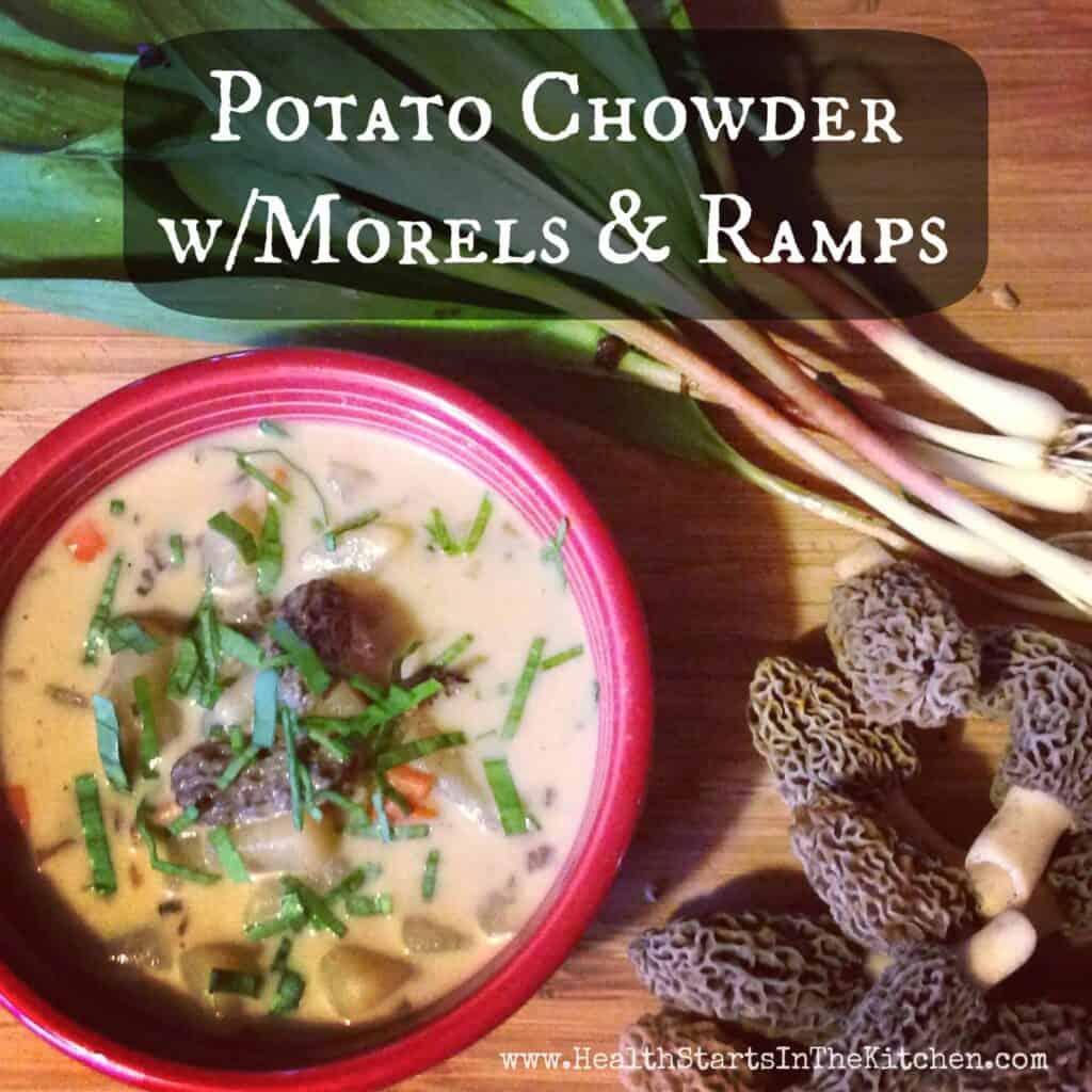 potato morel ramp chowder