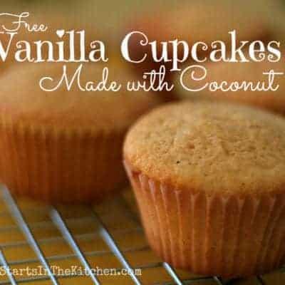 Gluten Free Vanilla Cupcakes with Coconut Sugar