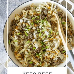 This Keto Beef & Cabbage Bowl is a delicious and budget-friendly meal that's ready to eat in less than 30 minutes. And with only 7g net carbs you won't sabotage your low carb diet!
