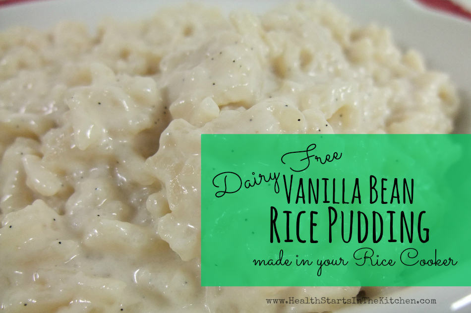 Here's how you make my Vanilla Bean Rice Pudding, in my rice cooker: