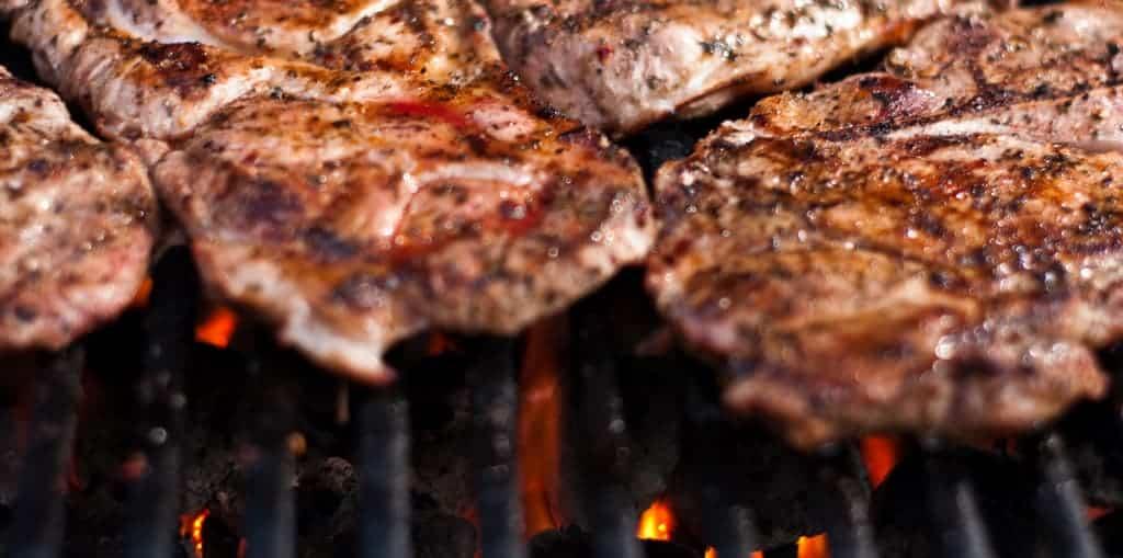 Grilled Pork Shoulder Steak