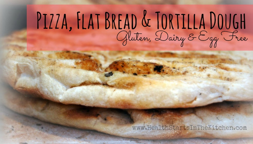 pizza flatbread and tortilla dough