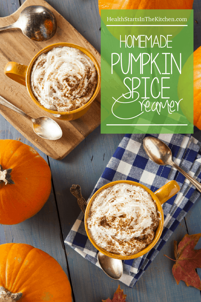 Homemade Pumpkin Spice Creamer, made with healthy, all-natural ingredients.