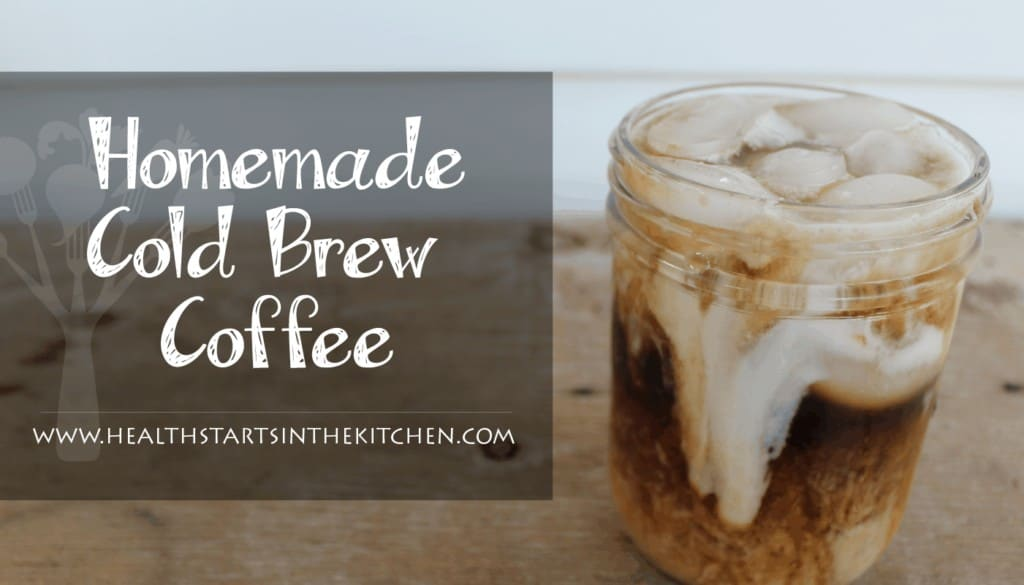 homemade cold brew coffee with coconut milk