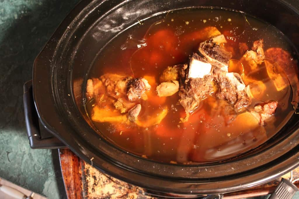 finished beef broth