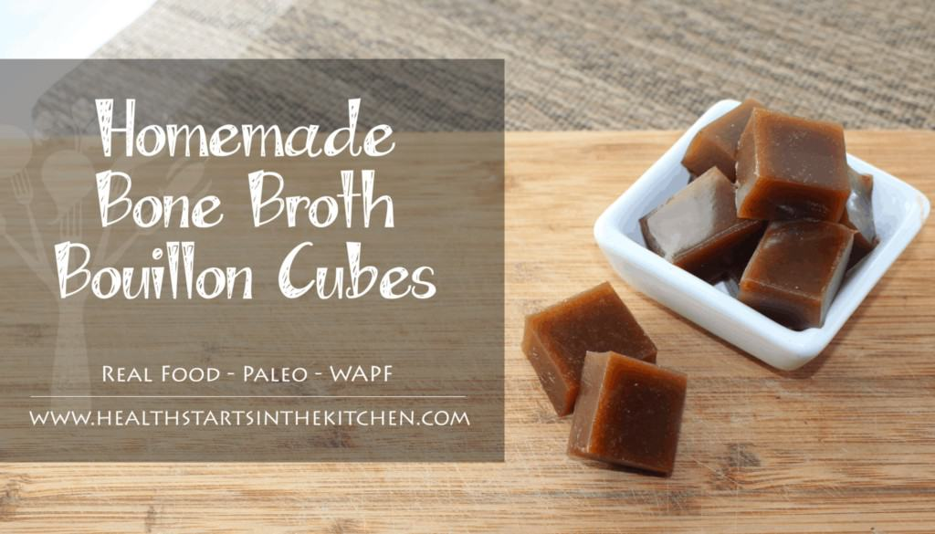 Homemade Bone Broth Bouillon Cubes