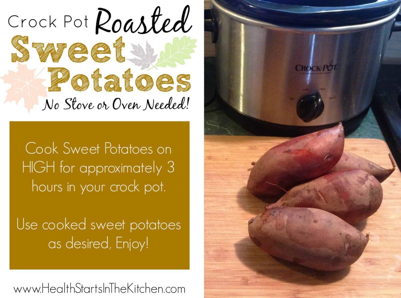 Crock Pot Roasted Sweet Potatoes