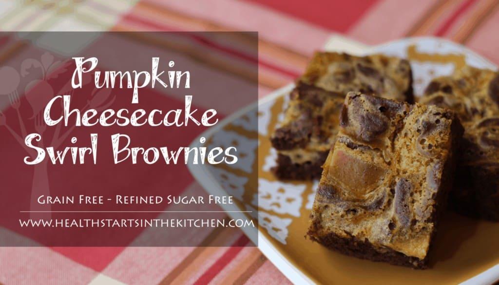 Grain Free Pumpkin Cheesecake Swirl Brownies