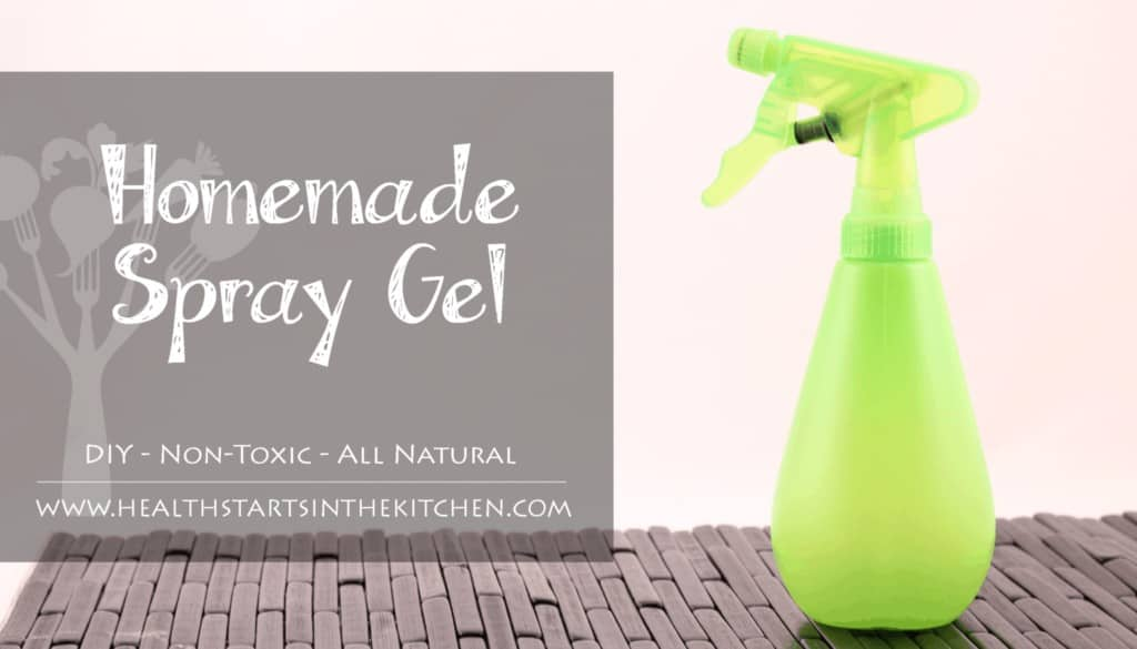 Homemade Spray Hair Gel - Health Starts in the Kitchen