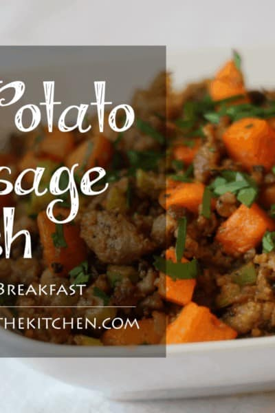 Awesome Egg Free, Paleo Breakfast: Sweet Potato & Sausage Hash