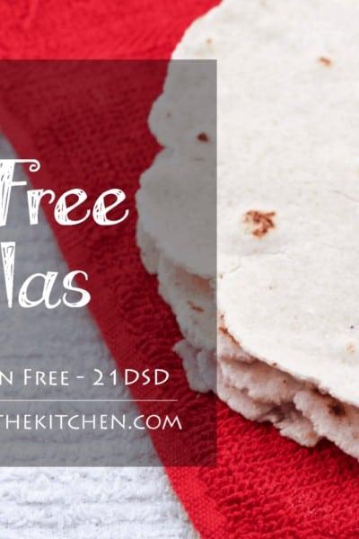 Grain & Gluten Free, Paleo Friendly, Homemade Tortillas - Health Starts in the Kitchen
