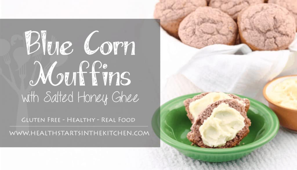 gluten free sprouted blue corn muffins