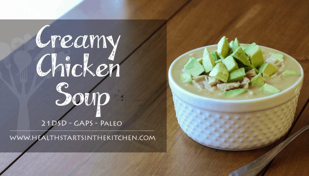 Creamy Chicken Soup with Avocado
