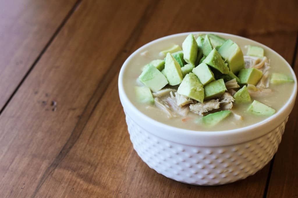 creamy chicken soup with avocado 2