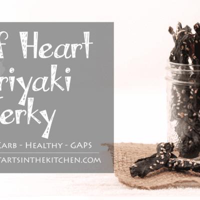 Teriyaki Beef Heart Jerky