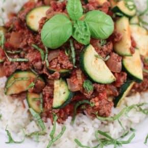 Zucchini Hamburger {Paleo & Gluten-Free)