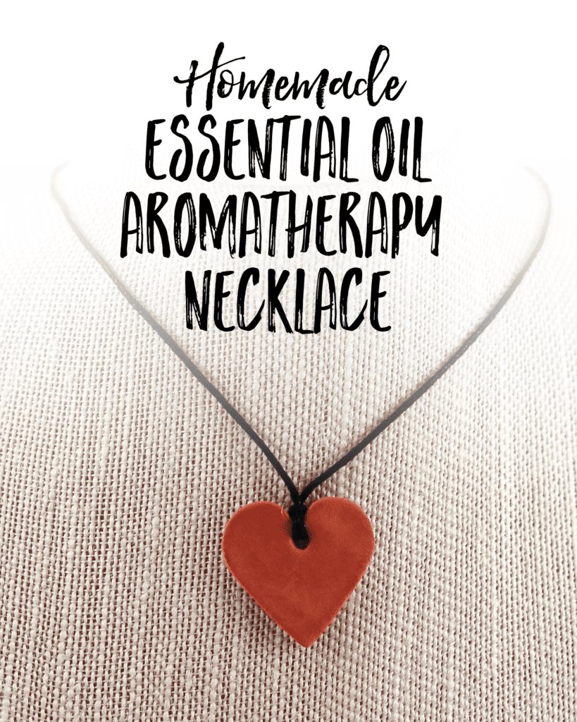 With my DIY Homemade Aromatherapy Necklace you can take a pretty little personal diffuser that goes wherever you go!