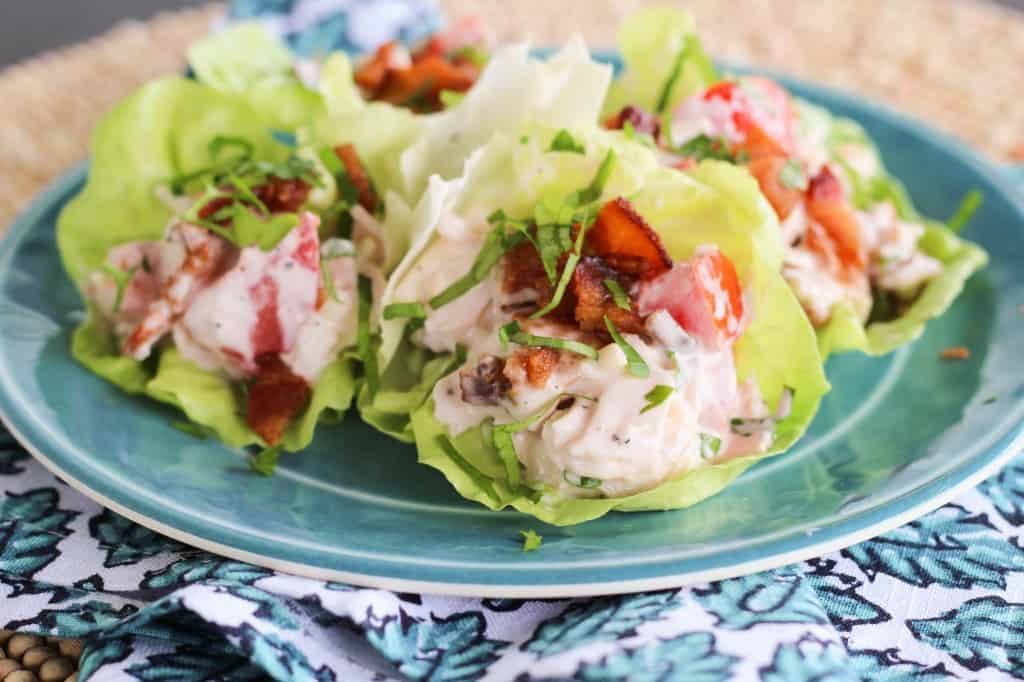 Best Lunch EVER! Turkey Bacon Swiss Lettuce Wraps