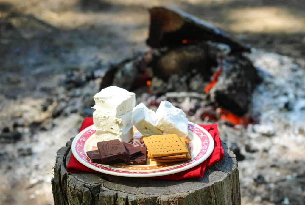 Making healthy, Almost Paleo S'mores over the bonfire