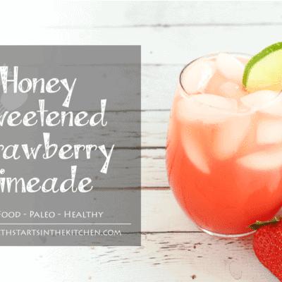Honey Sweetened Strawberry Limeade