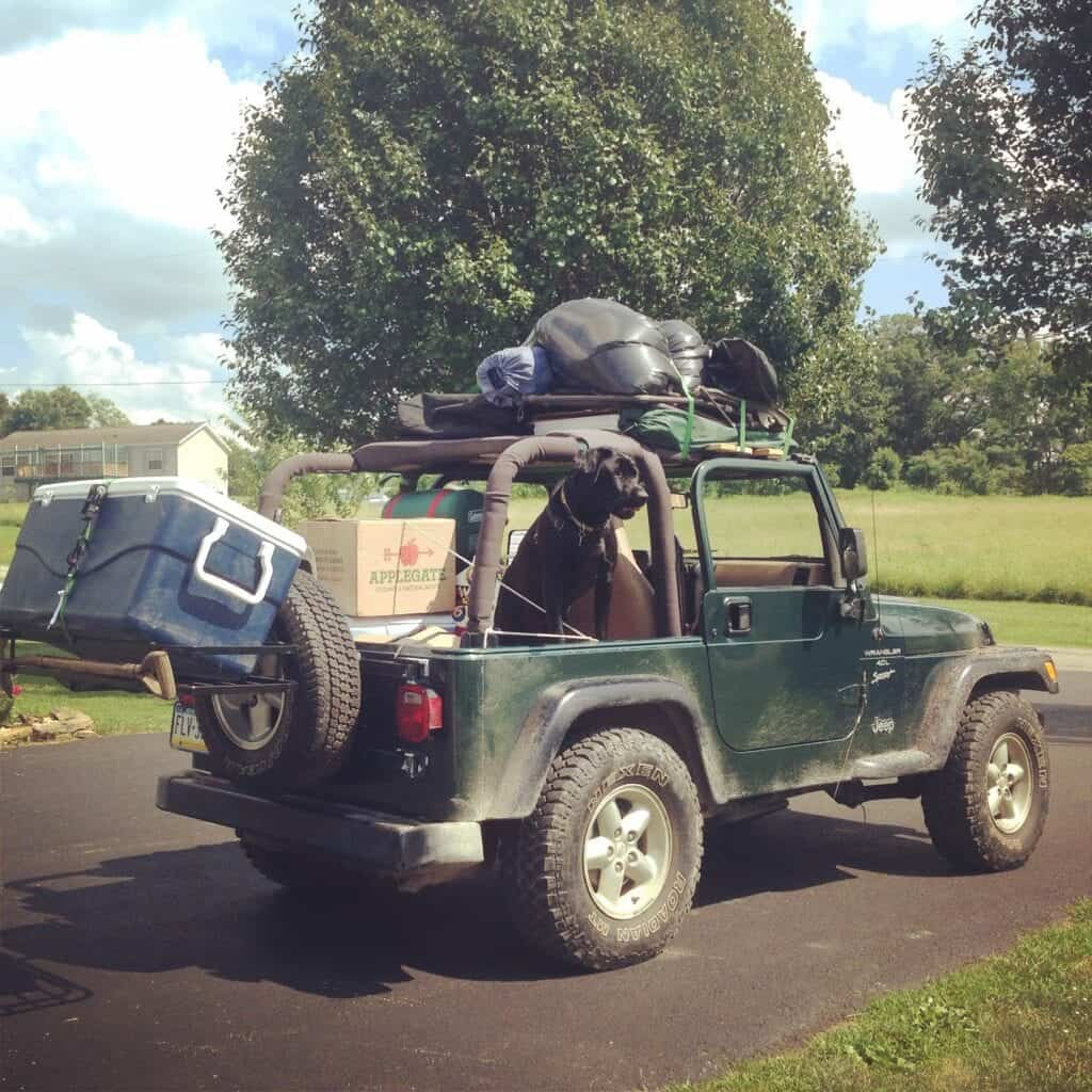 Jeep Packed with Camping with our Applegate #Wienervention Kit - Win you own Wienervention Kit!