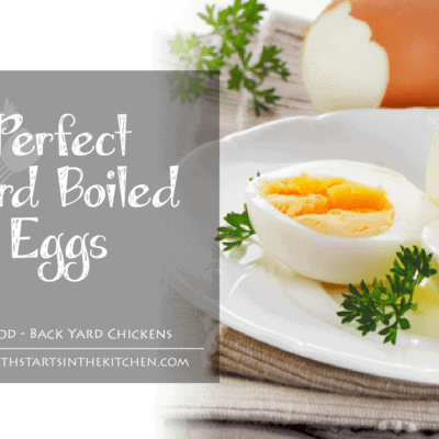 The Secret to Perfect Hard Boiled Eggs {stovetop method}
