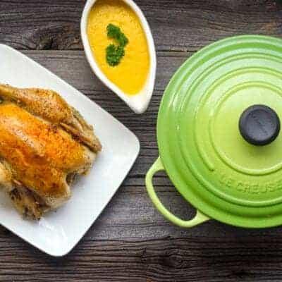 Perfect Roast Chicken with Vegetable Grav