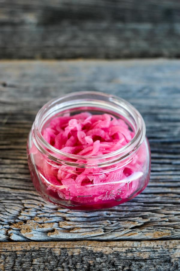 Homemade Pickled Red Onions -