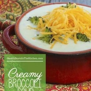 Creamy Broccoli Soup - Paleo/Vegan/Vegetarian Friendly