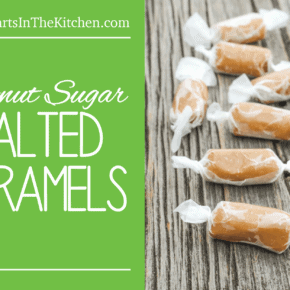 Homemade Salted Caramels made with healthy coconut sugar!