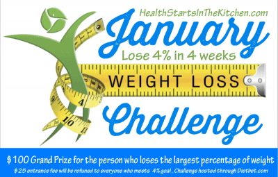 Join my January 2015 Weight Loss Challenge - Loss 4% in 4 weeks - Grand Prize of $100