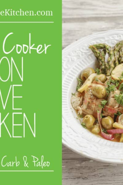 10-minute Pressure Cooker Lemon Olive Chicken - Gluten Free, Low-carb & Paleo Friendly