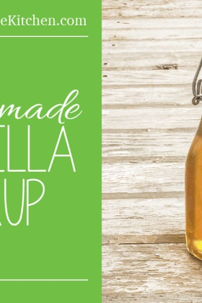 Homemade Vanilla Syrup, made with no refined sugar! www.HealthStartsInTheKitchen.com