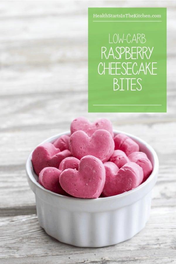 Frozen Low Carb Raspberry Cheesecake Bites