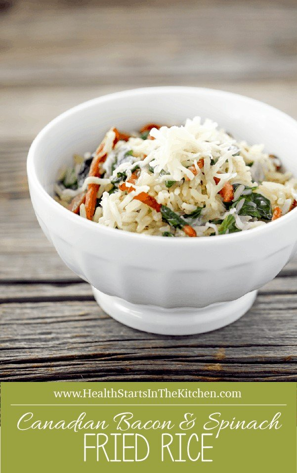 Canadian Bacon & Spinach Fried Rice  - Delicious, Healthy, Real Food!