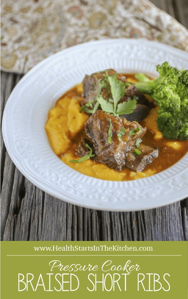 {Pressure Cooker} Braised Short Ribs - Gluten & Grain-Free, Paleo, Primal, and Healthy Real-Food