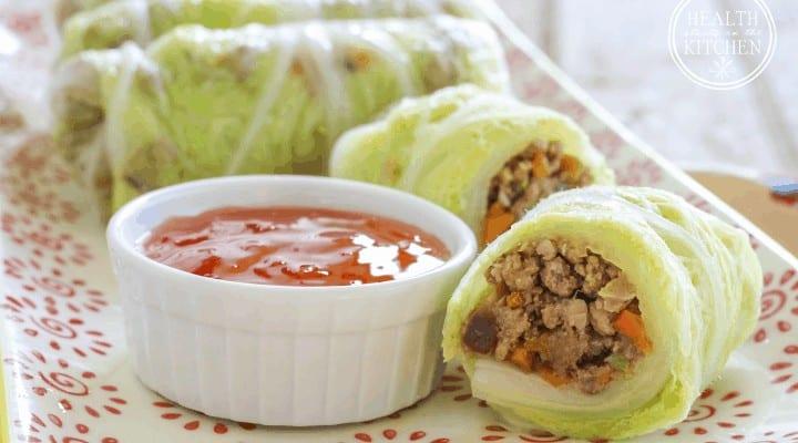 Napa Cabbage Wrapped Shiitake Pork Rolls {Low-Carb, Gluten-Free, Grain-Free, Paleo & Primal Friendly}