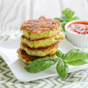 Grain & Gluten-Free Zucchini Fritters - Paleo Friendly