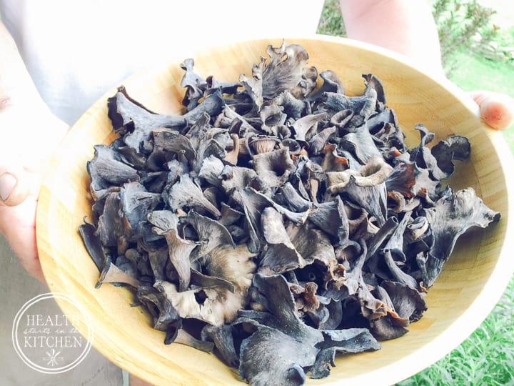 Wild Foraged Black Trumpet Mushroom Spread