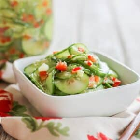 Marinated Asian Sesame Cucumber Salad
