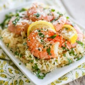 5 Minute Pressure Cooker Shrimp Scampi Paella - Gluten Free - Health Starts in the Kitchen