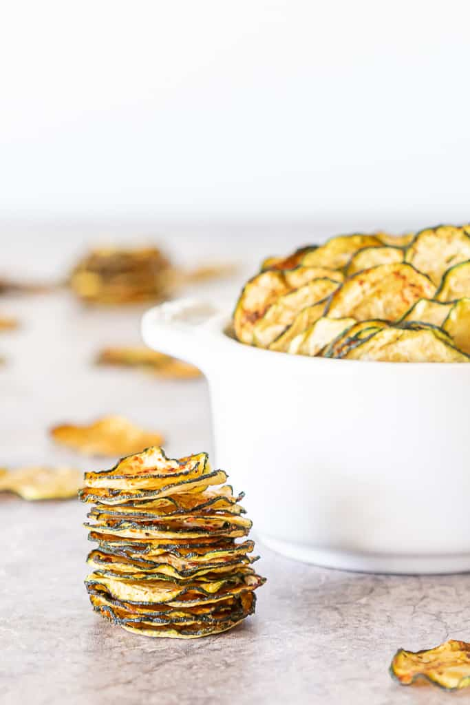 With my Keto Crispy Zucchini Chips you can preserve all the deliciousness of summer-time zucchini for busting your crunchy cravings all winter long with