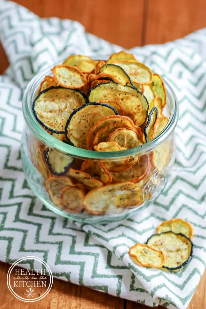 Low Carb Crispy Zucchini Chips Health Starts In The Kitchen