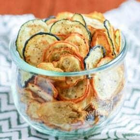Keto Crispy Zucchini Chips