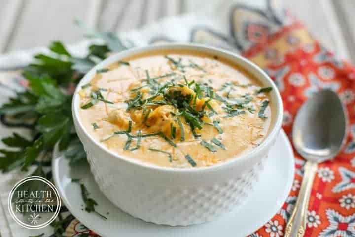 Low-Carb {Pressure Cooker} Buffalo Chicken Soup - Grain & Gluten Free, Primal Friendly